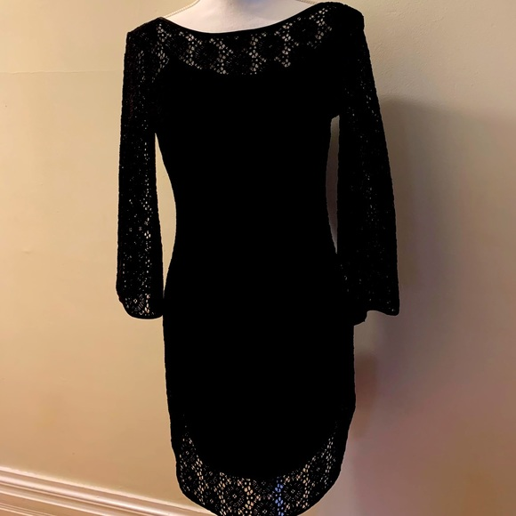 Lilly Pulitzer Black lace overlay dress